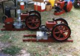 "1 1/2hp ""Sturdy Jack"" Engine. Rear: Battery and Coil Version, front: Webster Version"