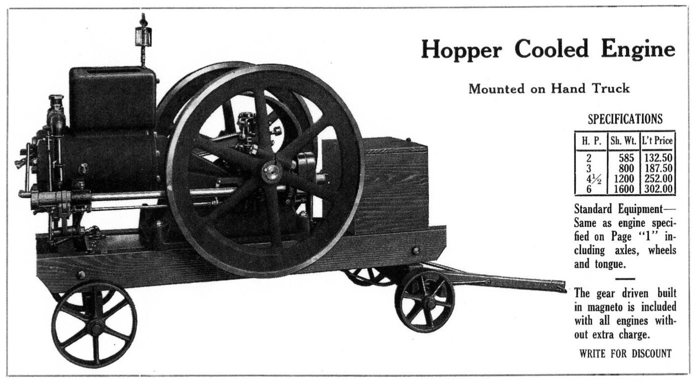 Hopper Cooled Engine